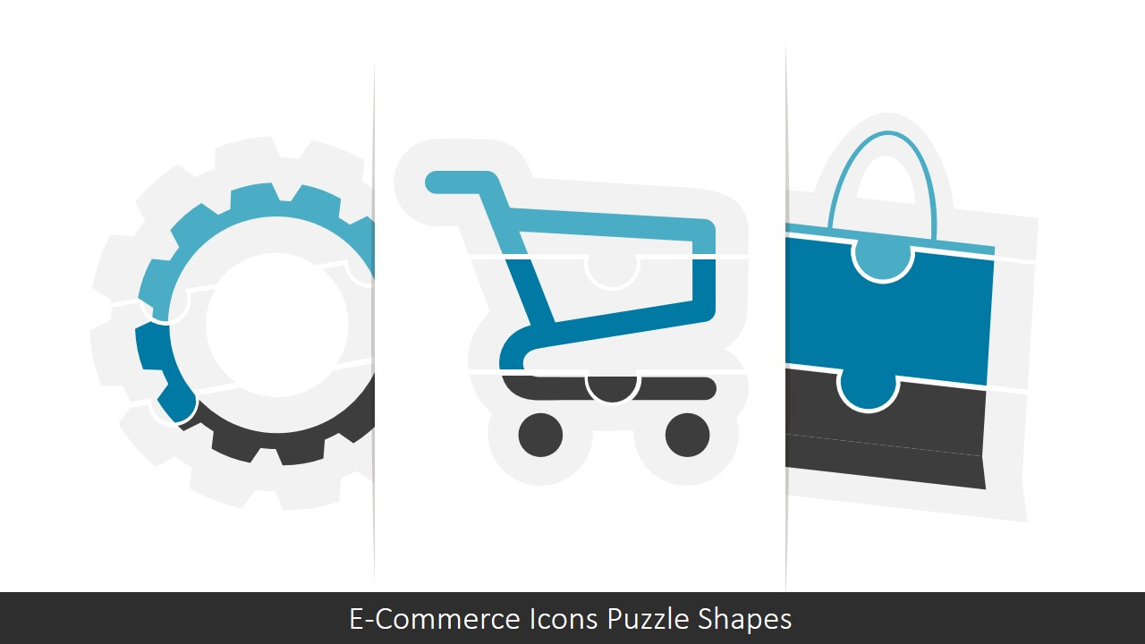 E Commerce Icons Puzzle Powerpoint Shapes Slidemodel