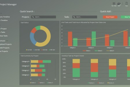 RAG Project Status Dashboard for PowerPoint   SlideModel     PPT Template Project Portfolio Dashboard