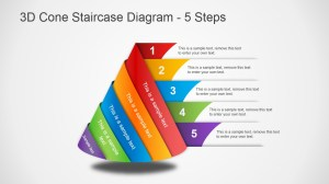 3D Cone Staircase Diagram for PowerPoint  SlideModel