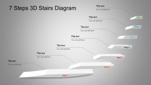 7 Step 3D Stairs Diagram for PowerPoint