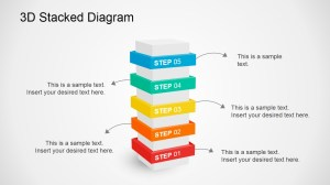 3D Stacked Diagram for PowerPoint