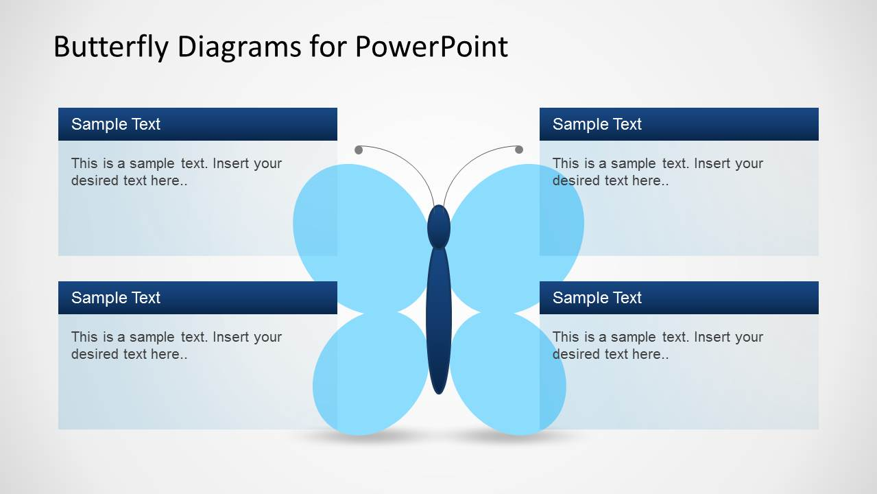Creative Butterfly Diagrams For PowerPoint SlideModel