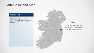 Editable Ireland Map Template for PowerPoint   SlideModel Download Editable Ireland Map Template for PowerPoint  Create presentations  with a complete and customizable map of Ireland