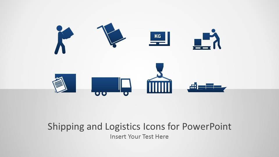 Shipping And Logistics Icons Powerpoint Presentation