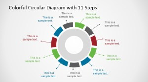 Colorful 11 Steps Circular Diagram for PowerPoint  SlideModel