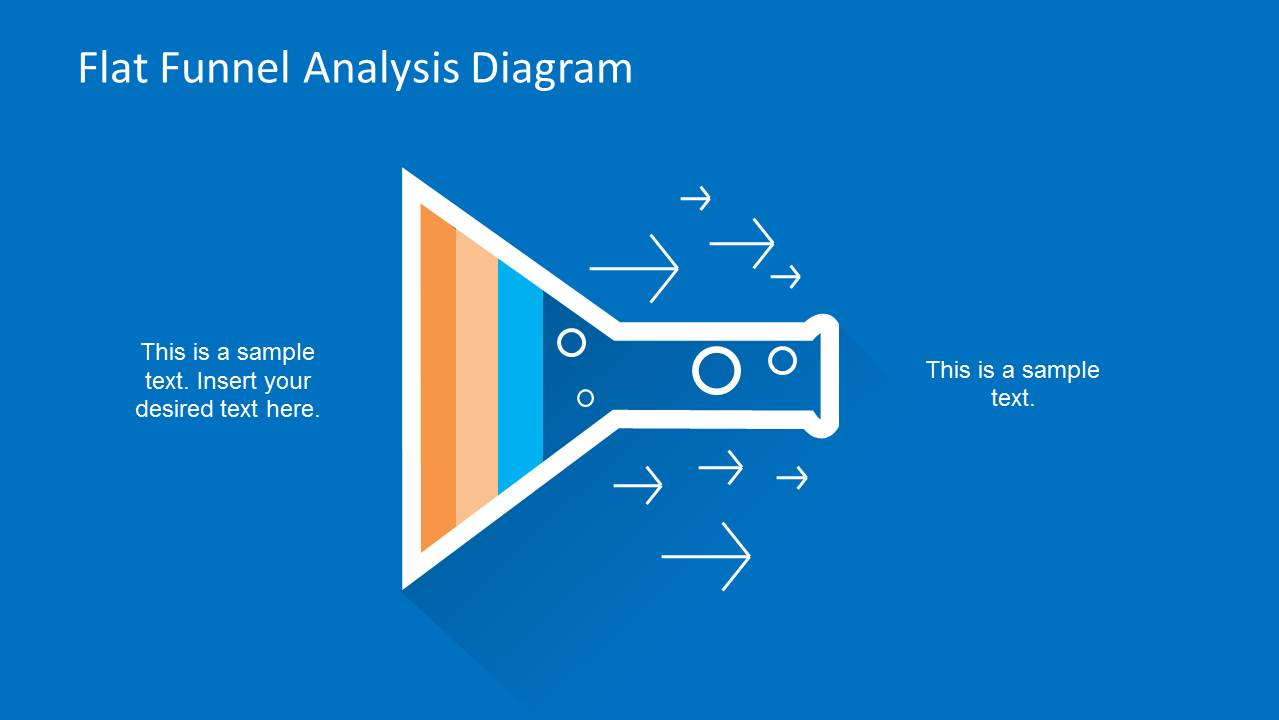 Flat Funnelysis Diagram Template For Powerpoint