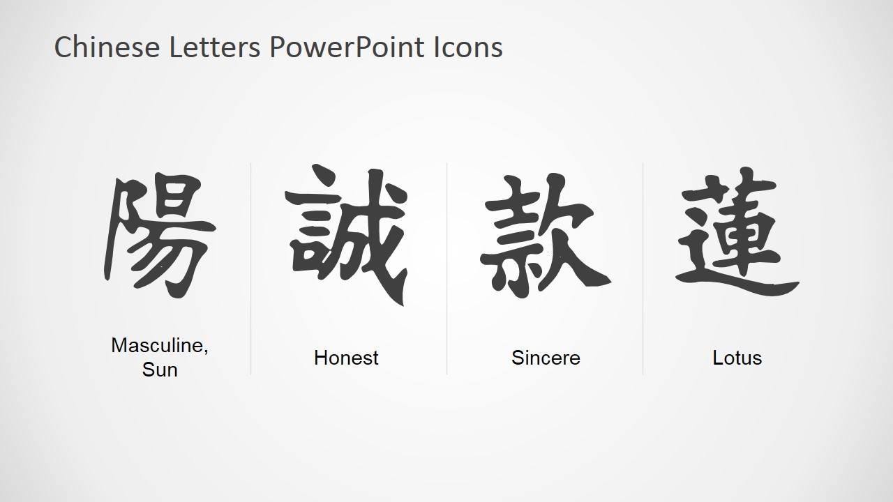 Chinese Calligraphy Symbols With Meanings Chart