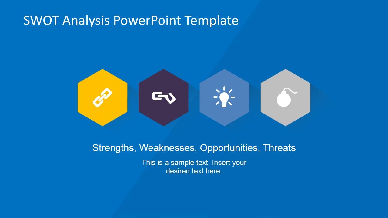 Creative Swot Flat Design Diagram For Powerpoint Slidemodel