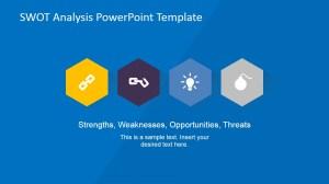 SWOT Professional Hexagonal Icons Design  SlideModel