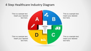 4 Step Healthcare Diagram Template for PowerPoint  SlideModel