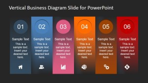 Vertical Business Diagram Slide for PowerPoint  SlideModel