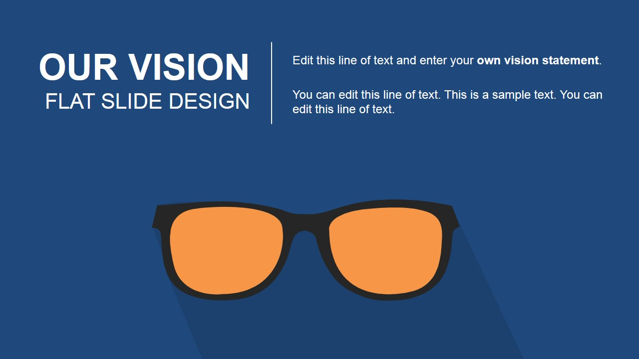 Our Vision Flat Slide Design For PowerPoint SlideModel