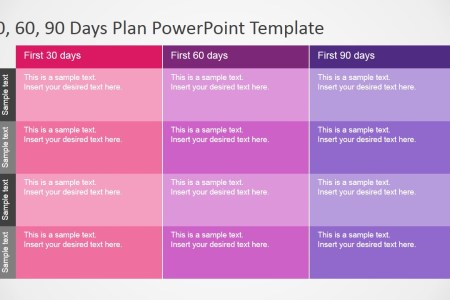 30 60 90 Days Plan PowerPoint Template   SlideModel     PowerPoint Table Diagram for 30 60 90 Days Plan Presentation