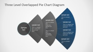 Overlapped Levels Pie Chart PowerPoint Diagram  SlideModel