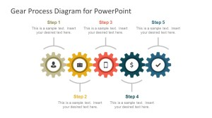 Gear Process Diagram PowerPoint Template  SlideModel