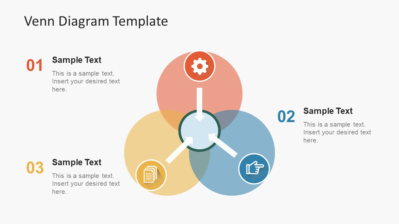 Simple Flat Venn Diagram PowerPoint Template