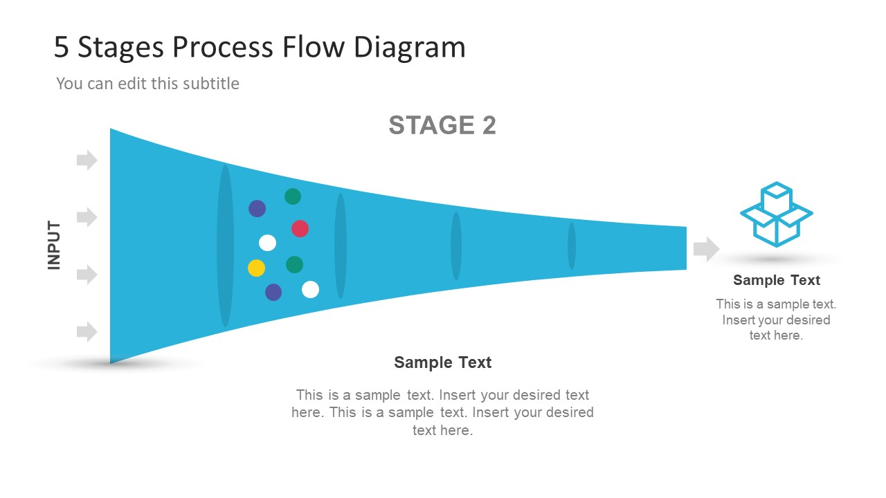 5 Stage Process Flow Diagram For Powerpoint Slidemodel