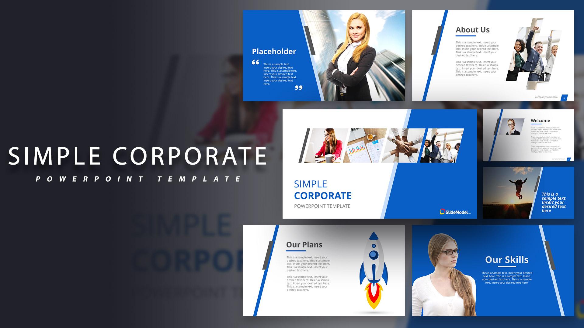 Simple Corporate Powerpoint Template Slidemodel