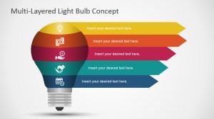 Free Layered Light Bulb Diagram for PowerPoint  SlideModel