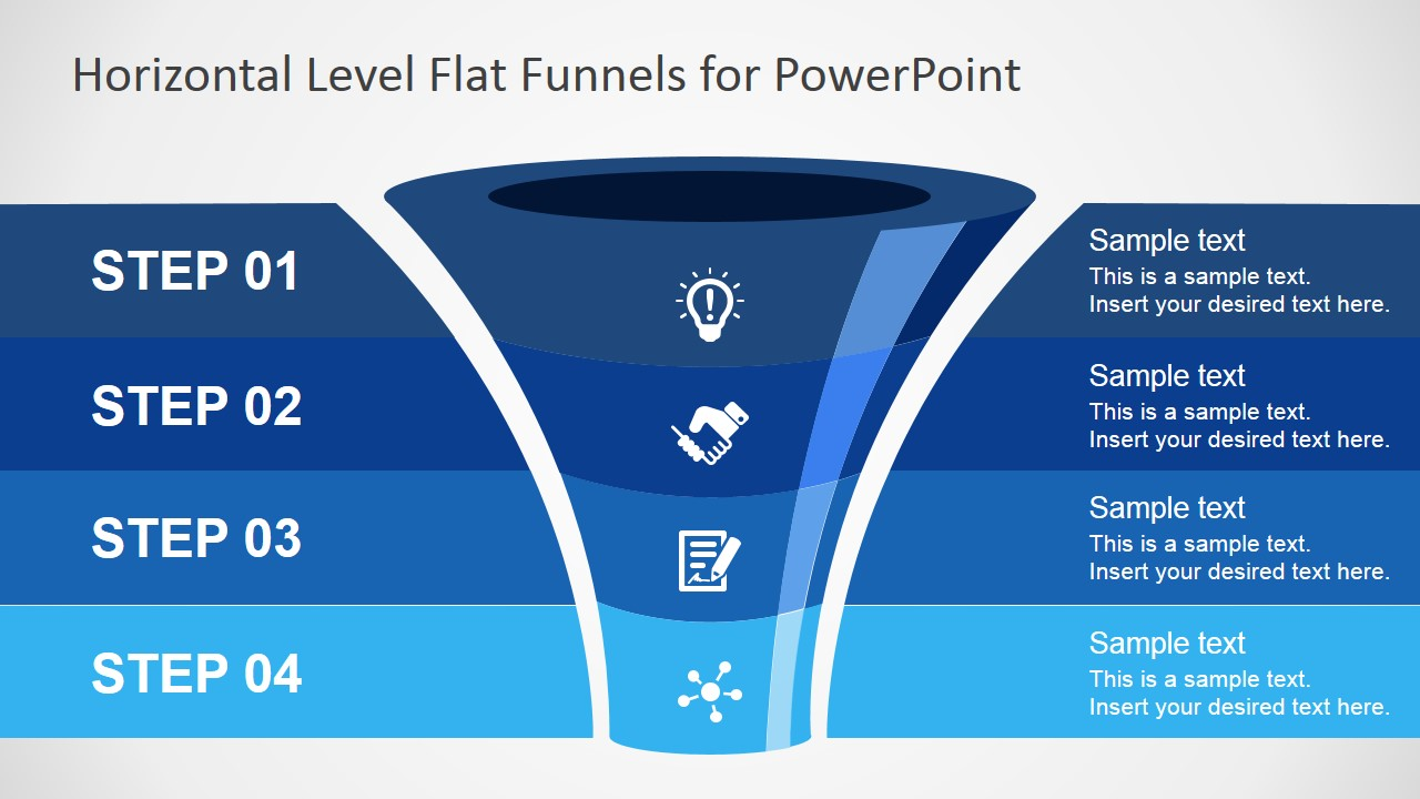 Free Flat Funnel Powerpoint Template
