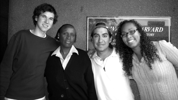 Carlos (second from right) with fellow undergrads and a BHP staff member