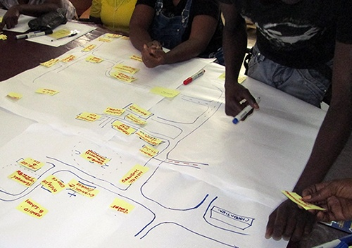 Creating a map of the community with the local health committee