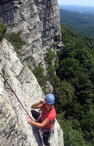 Amy Wu climbs New York's Shawangunk Mountains