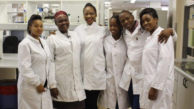 Young BHP lab technicians and research scientists
