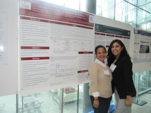 MIRT 2016 Fellows Stephanie Martinez and Amber Domingue at the New England Science Symposium