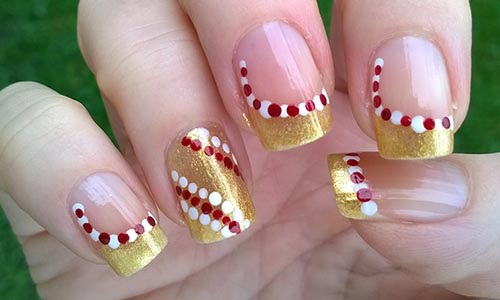 Candy Cane Christmas Nail Art Top 50 Latest And Simple Designs For Ners 2017