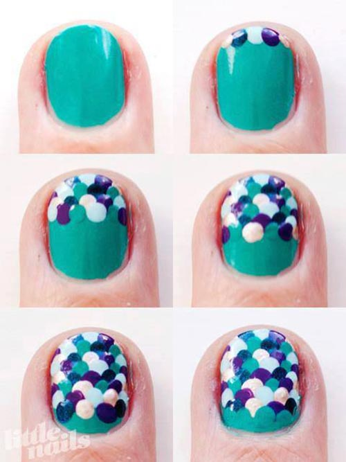 Scales Nail Art Design