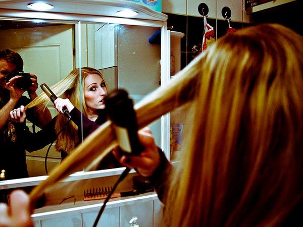 hair straightening therapy in the home