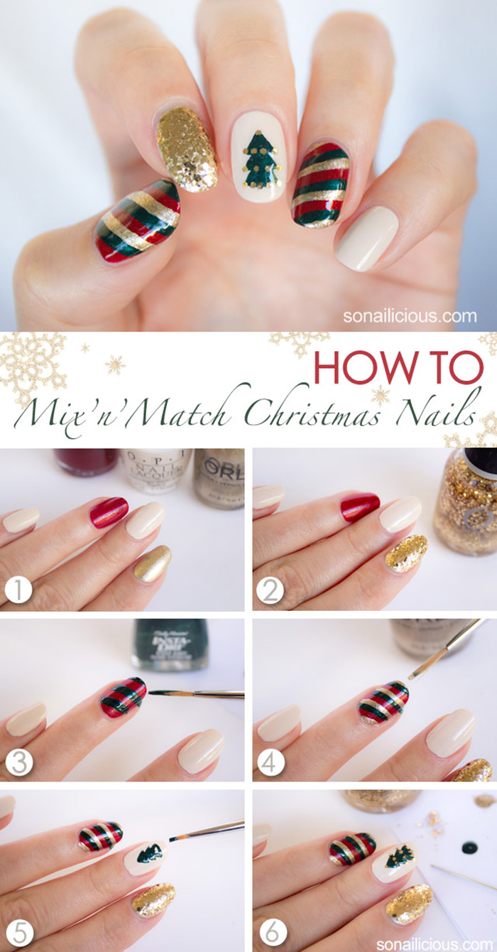 The Colors Of Christmas Nail Art Tutorial