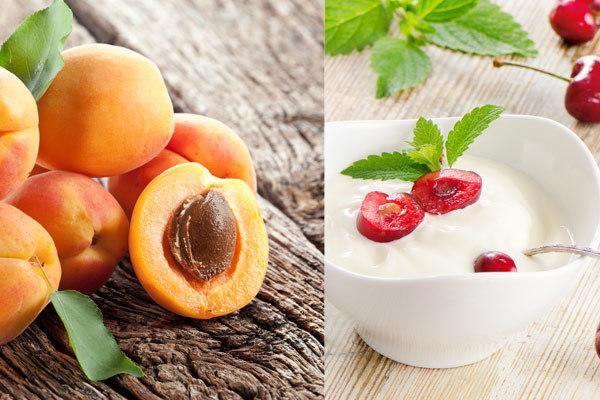 apricots and yogurt