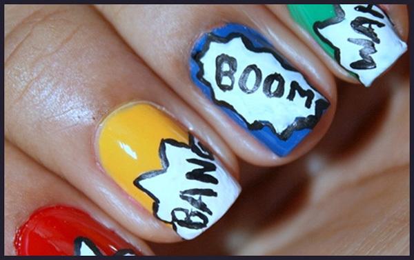 Boom Nail Art Design 1