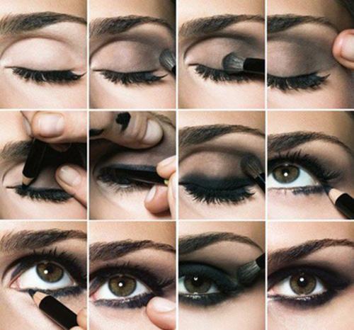 Riasan mata smokey eyes. Image via StyleCraze.