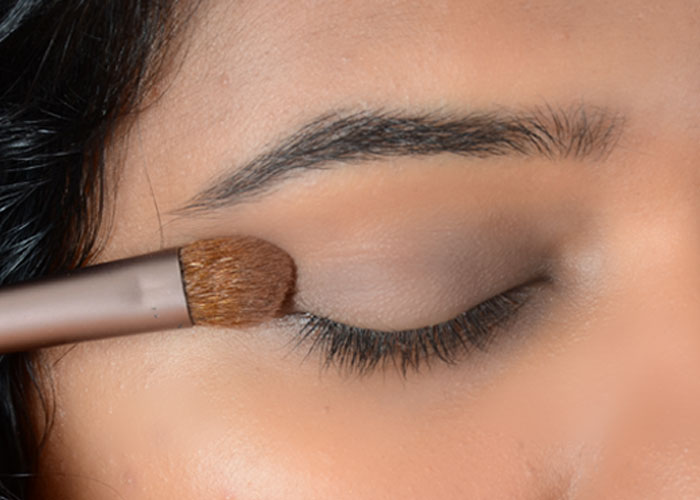 Gold Eye Makeup Tutorial - Step 2: Apply Base Shade
