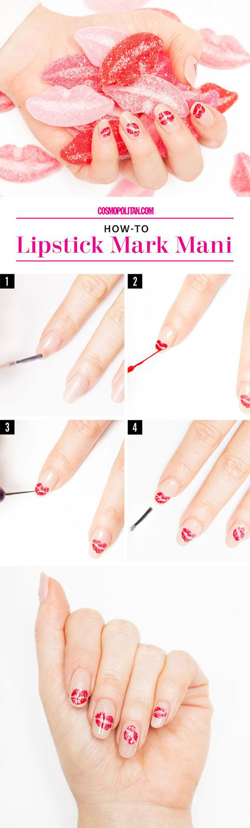 Lipstick Mark Nail Art