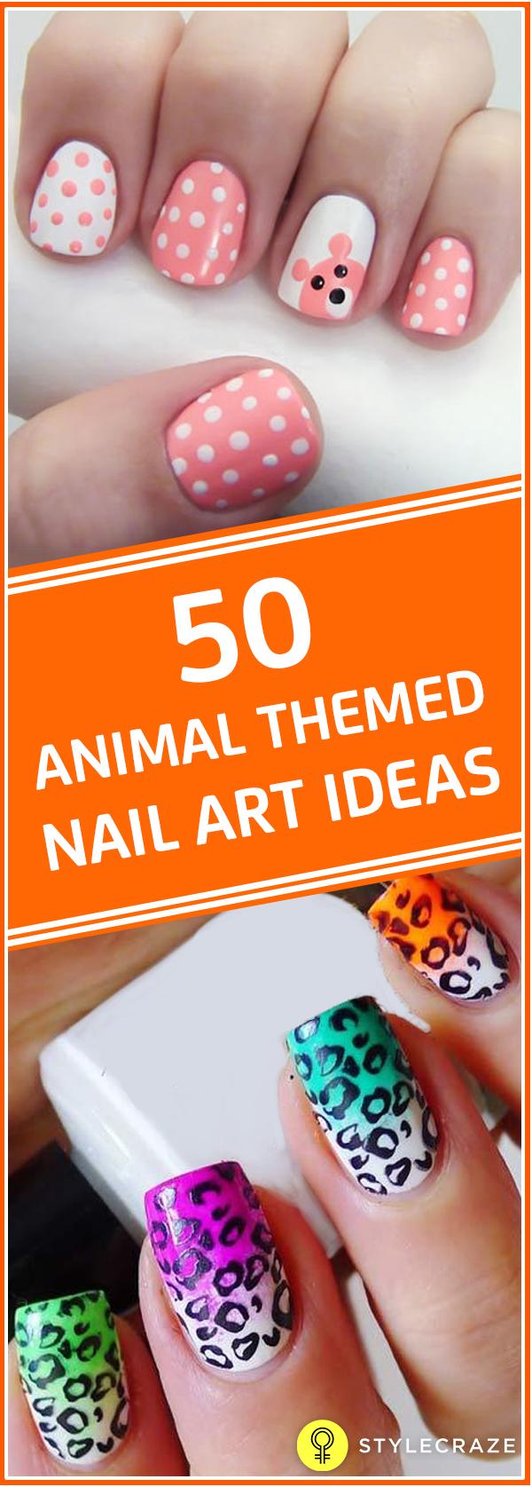 50 Animal Themed Nail Art Ideas