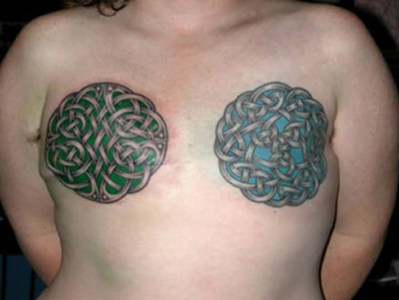 10 Best Breast Tattoo Designs Celtic breast tattoo