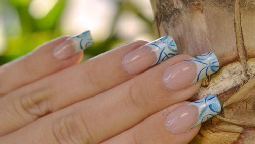Airbrushed Nail Tips For French Nails
