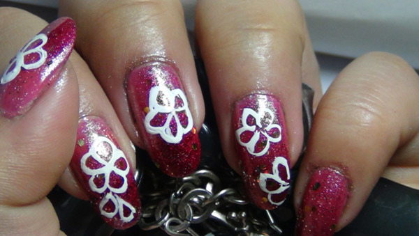 Hand Painted Nail Art Four