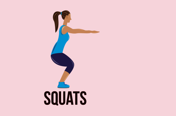 Regular squats