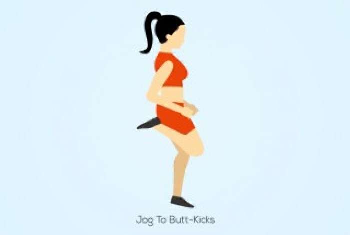 Jog-To-Butt-Kicks