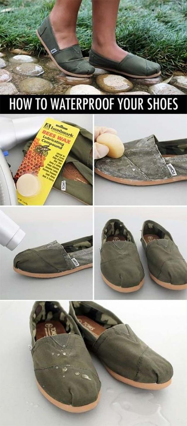 10. Apply Beeswax On Your Shoes To Waterproof Them