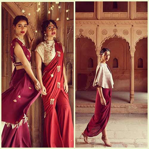 Sharara-Saree Tired Of Old Saree Drapes? Try 21 Modern Styles No One Told You About! Random