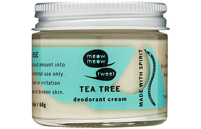 Meow Meow Tweet Tea Tree Deodorant Cream
