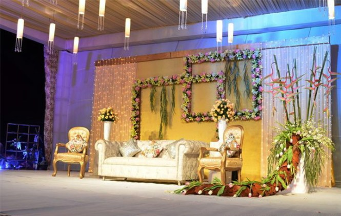 Indian Wedding Stage Decoration On Decorations With And