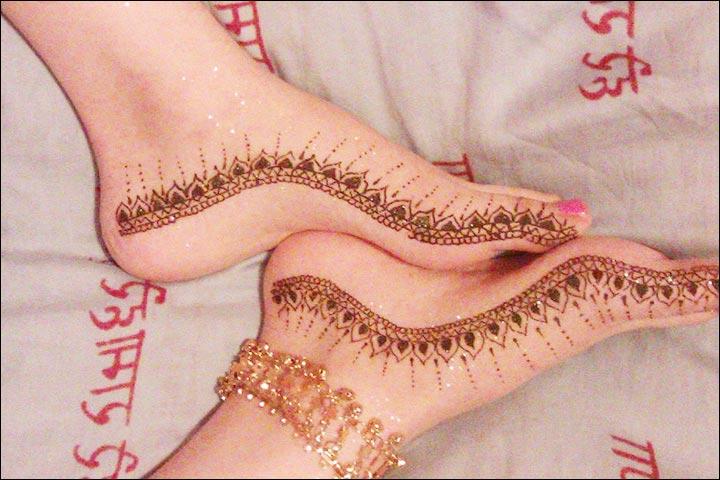 Mehndi Leg Easy Designs : Mehndi designs in legs. feet simple