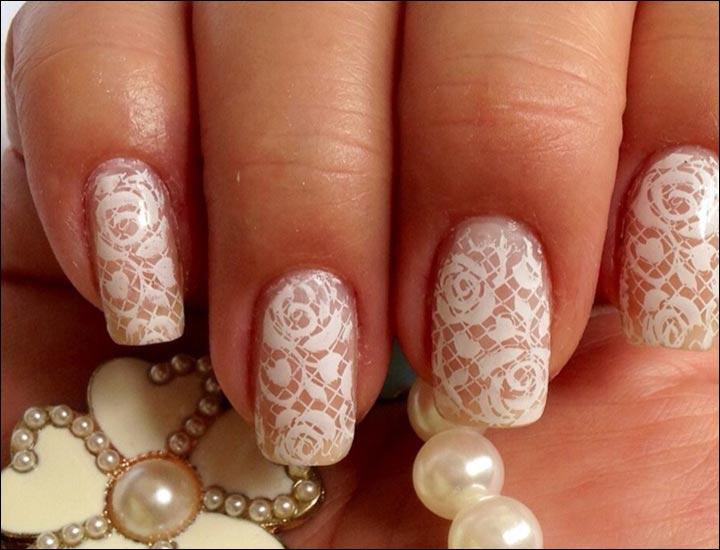 Bridal Nail Art Designs Laced